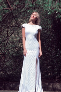 Cathrine Sequin Gown Ivory