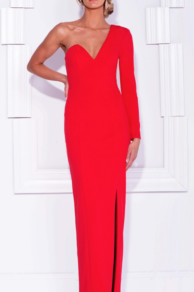 Shay One Shoulder Red