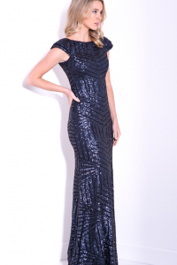 Cathrine Sequin Gown Navy