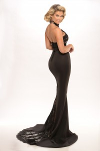 Connie Gown Black/Nude