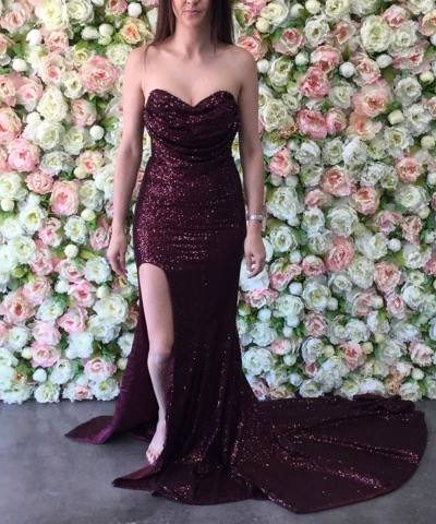 1251f414d97 Diamond Gown 5 Burgundy - Size 8 - The Higher Boutique