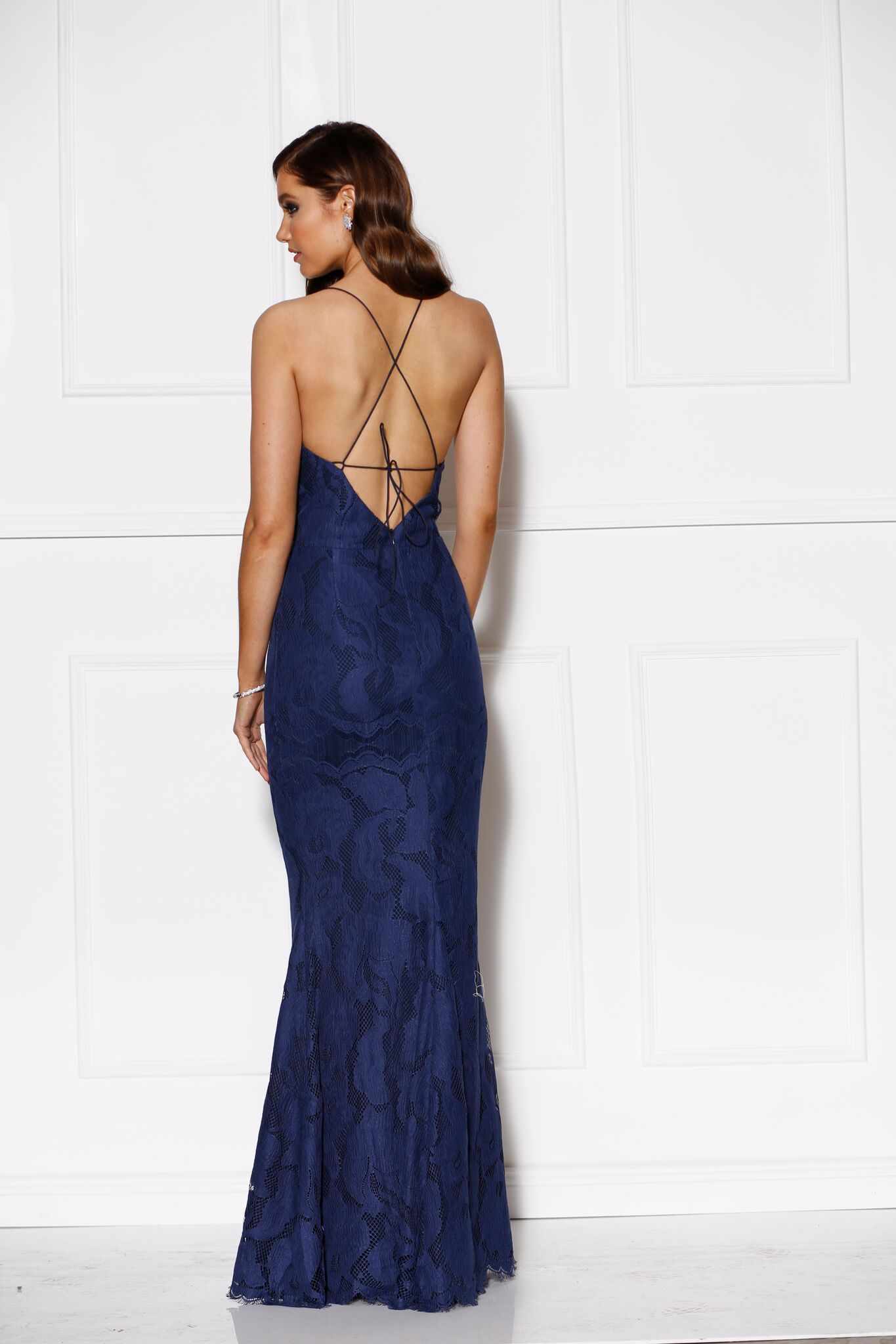 Allure Gown Navy - Size 10 - The Higher Boutique
